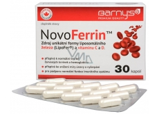 Barnys NovoFerrin source of unique form of liposomal iron and vitamin C and D. 30 capsules