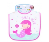 First Step Bib cotton mermaid pink 21 x 25 cm