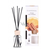 D-Aroma- Orange with Cinnnamon - Orange and cinnamon aroma diffuser with sticks for gradual release of aroma 100 ml