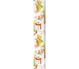 Ditipo Christmas wrapping paper for children white bear on a stool 100 x 70 cm 2 pieces