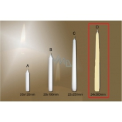 Lima Gastro smooth candle ivory cone 24 x 300 mm 1 piece