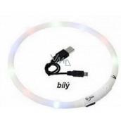 Karlie Flamingo luminous LED collar for dogs white, uni size 20-75 cm, rechargeable