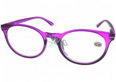 Berkeley Reading glasses +2.0 plastic purple, round glass 1 piece MC2171