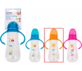 First Steps Feeding Bottle 0+ baby bottle clear with grips Zoo orange 250 ml