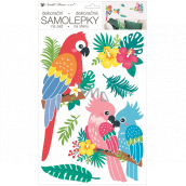 Room Decor Wall sticker parrots 24 x 42 cm