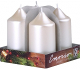 Emocio Perla white candle cylinder 40 x 75 mm 4 pieces