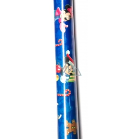 Nekupto Gift wrapping paper 70 x 150 cm Disney Mickey Mousse and Minnie Christmas blue