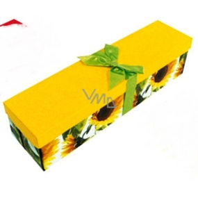Angel Folding gift box with ribbon for sunflower bottle 34 x 9.5 x 9.5 cm 1 piece