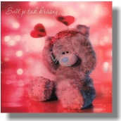 Me to You Congratulations to the envelope 3D The world is so beautiful Bear with a headband 15.5 x 15.5 cm
