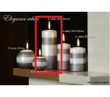 Lima Elegance White candle brown cylinder 60 x 150 mm 1 piece