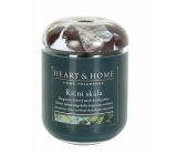Heart & Home River Rock Soybean Scented Candle burns up to 70 hours 340 g