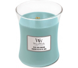 WoodWick Blue Java Banana - Hawaiian banana scented candle with wooden wick and lid glass medium 275 g