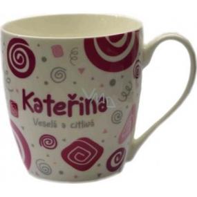 Nekupto Twister mug named Catherine pink 0.4 liter