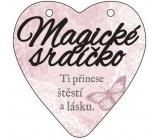 Albi Závěsná plaketka srdce Magické srdíčko 9 cm × 10 cm