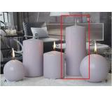 Lima Ice pastel candle light purple cylinder 80 x 200 mm