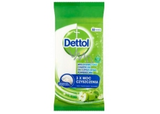 Dettol Green apple antibacterial wipes on surfaces of 36 pieces