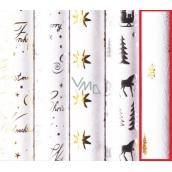 Zöllner Christmas wrapping paper WHITE CHRIST - golden trees