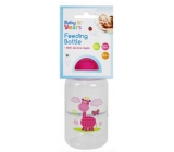 First Steps Safari infant bottle 0+ Giraffe pink 150 ml