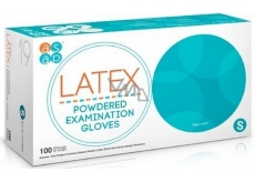 Asap Latex disposable powdered gloves size S box 100 pieces