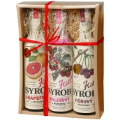 Kitl Syrob Bio Grapefruit with 500 ml pulp + Cherry with 500 ml pulp + Raspberry with pulp syrup for homemade lemonade 500 ml, gift box