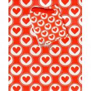 Nekupto Gift paper bag small 14 x 11 x 6.5 cm Hearts 1548 30 KFS