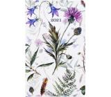 Albi Diary 2021 pocket weekly Meadow flowers 15.5 x 9.5 x 1.2 cm