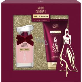 Naomi Campbell Prét and Porter Absolute Velvet eau de toilette for women 15 ml + body lotion 50 ml, gift set