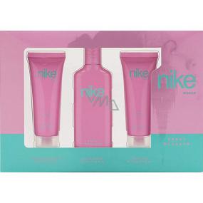 Nike Sweet Blossom Woman eau de toilette 75 ml + shower gel 75 ml + body lotion 75 ml, gift set
