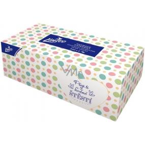 Linteo Satin paper handkerchiefs two-layer box of 200 pieces