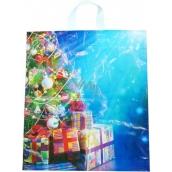 Press Igelitová taška s uchem vánoční stromek a dárečky 47 x 41 cm 1 kus