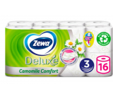 Zewa Deluxe Aqua Tube Camomile Comfort perfumed toilet paper 3 ply 150 pieces 16 pieces, roll that can be rinsed