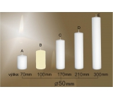 Lima Candle smooth ivory cylinder 50 x 100 mm 1 piece