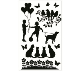 Room Decor Stickers for light switch silhouettes in the park No.4 24 x 15 cm