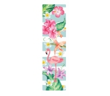 Albi Bookmark Tropical wallpaper with flamingos