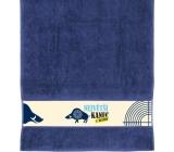 Albi Towel Blue cane 90 x 50 cm