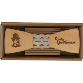 Bohemia Gifts Gentleman wooden bow 12.5 cm