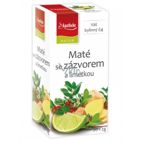 Apotheke Natur Maté with ginger and lime herbal tea helps digestion, breathing and well-being 20 x 2 g