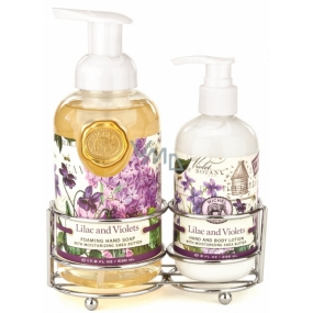Michel Design Works Lilac and Violets foaming liquid hand soap 530 ml + hand and body lotion 236 ml, cosmetic set