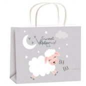 Angel Gift bag all year gray sheep for children size M 23 x 18 x 10 cm