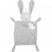 First Steps Sleepy with plush head Hare Minky gray 26 x 18 cm