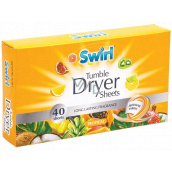 Swirl Tropical scented wipes for dryer 40 pieces