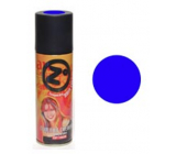 From colored hairspray Blue 125 ml spray