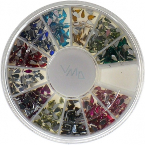 Professional nail decorations rhinestones color drops 12 colors, 1 pack