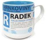 Nekupto Hrnkoviny Mug with the name Radek