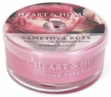 Heart & Home Velvet rose Soy scented candle in a bowl burns for up to 12 hours 36 g