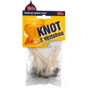 Fire Knot with reinforcement for the production of gel candles 7 cm 10 pieces