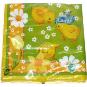 Lambi Paper napkins 3 ply 33 x 33 cm 20 pieces Easter Chickens