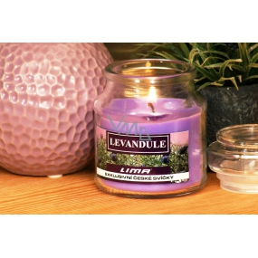 Lima Aroma Dreams Lavender aromatic candle glass with lid 120 g