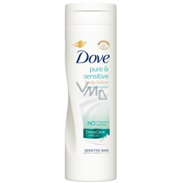 Dove Pure & Sensitive hypoallergenic lotion 250 ml