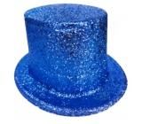 Carnival top hat 25 cm blue
